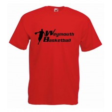 Red Weymouth Basketball Kids T-Shirt