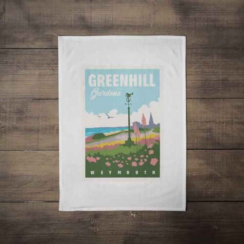 Greenhill Gardens Tea Towel