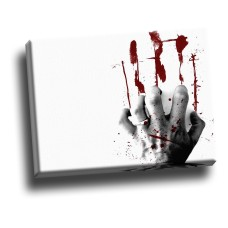 Bloody Nails On White Board