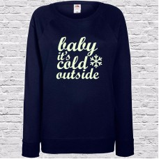 Baby It's Cold Outside Glow In The Dark Jumper