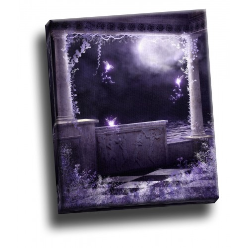 Dark Waters Violet Stone Gothic Giclee Canvas Wall Decoration Picture