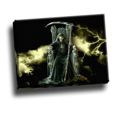 Grim Reaper Upon Throne