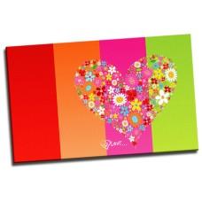 Love Heart Colourful
