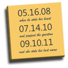 Personalised Anniversary Dates Canvas
