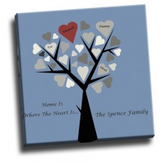 Personalised Family Tree Canvas